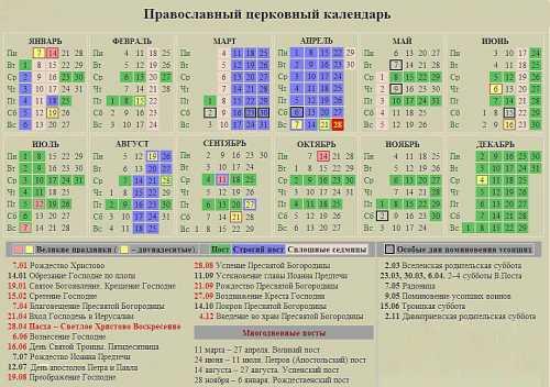 церковный православный календарь на март 2018 года